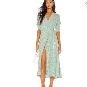 NWT Faithful the brand chiara wrap dress midi